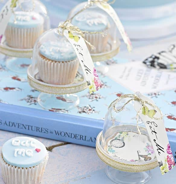 Truly Alice IN Wonderland Cake Domes on a party table