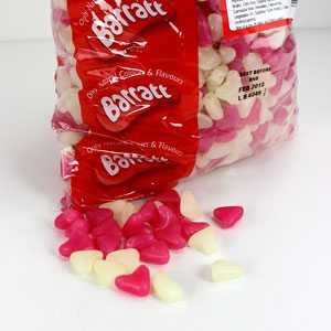Pink & White Jelly Bean Hearts Sweets - 3kg