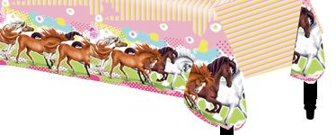 charming-horses-plastic-party-tablecover