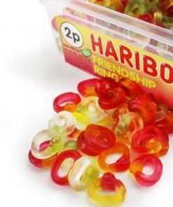 cheap bulk haribo friendship rings tub