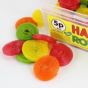 Tub of Haribo Rotella Sweets (120pk)