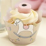 Rock A Bye Baby Party Cupcake Wraps (10pk)