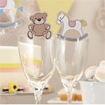 Rock A Bye Baby Party Glass Decorations (10pk)