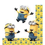 NEW Despicable Me Minions Party Paper Napkins - 2 ply (Pk 16)