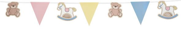 Rock A Bye Baby Party Paper Bunting - 11.5ft