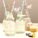 Rock A Bye Baby Party Paper Straws (25pk)