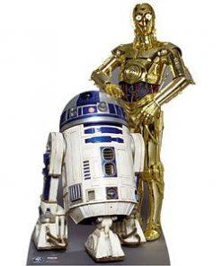 Star Wars Party The Droids R2D2 C3PO Cardboard Cutout - 166cm