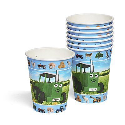 Tractor Ted Party Paper Cups (Pk 8)