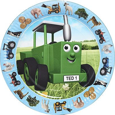 Tractor Ted Party Paper Plates - 23cm (Pk 8)