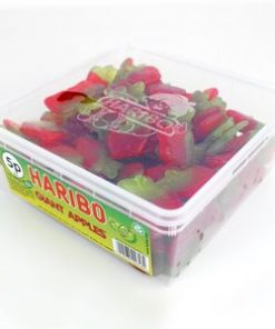 Tub of Haribo Giant Apples Sweets (120pk)