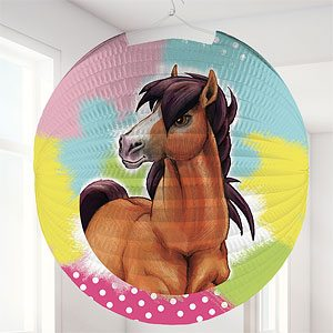 Charming Horses Round Lantern Party Decoration