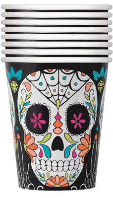 Halloween Day of the Dead Paper Cups