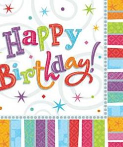 Happy Birthday Party Radiant Paper Napkins