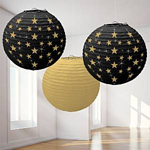 Hollywood Party Round Lanterns