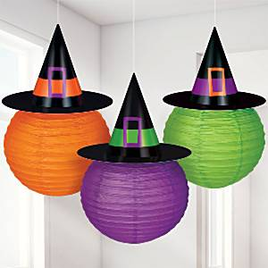 Lanterns-with-Witch-Hat-decoration
