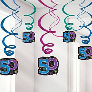 Party-Continues-Age-50-Hanging-Swirls-60cm