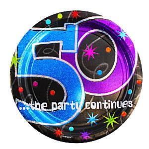 Party-Continues-Age-50-Paper-Dessert-Plates-17cm