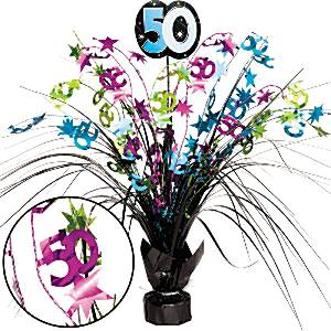 50th Birthday Party Spray Centrepiece