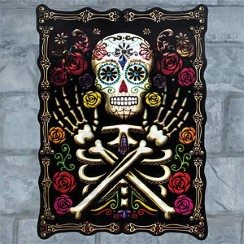 Halloween Day of the dead Skull-Rose-Lenticular-Sign