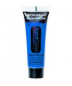 Neon Blue Glow in the Dark Paint Tube - 10ml