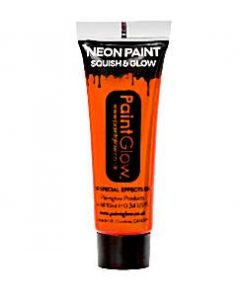 Neon Orange Glow in the Dark Paint Tube - 10ml