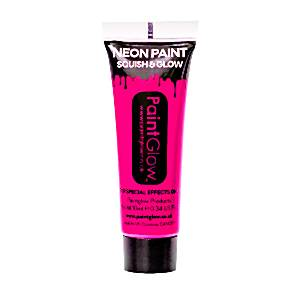 Neon Pink Glow in the Dark Paint Tube - 10ml