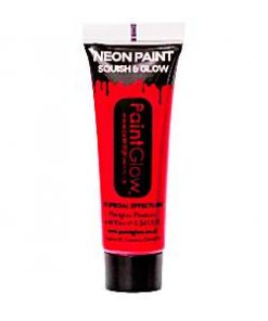 Neon Red Glow in the Dark Paint Tube - 10ml