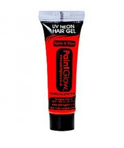 UV Neon Red Hair Gel - 10ml