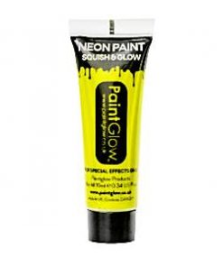 Neon Yellow Glow in the Dark Paint Tube - 10ml