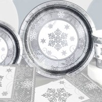 Buy Cheap Christmas Sparkling Snowflake Partyware