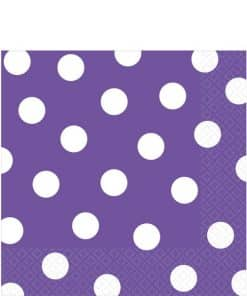 Purple Polka Dot Napkins