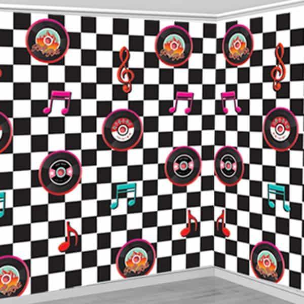 Rock n roll grease 50s scene setter fun party supplies - Rock n roll dekoration ...