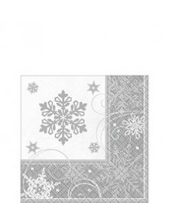 Sparkling-Snowflake-Beverage-Napkin