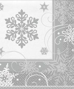 Sparkling Snowflake Dinner Napkins