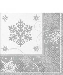 Sparkling-Snowflake-Lunch-Napkin