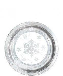 Sparkling-Snowflake-Metallic-Dessert-Plate