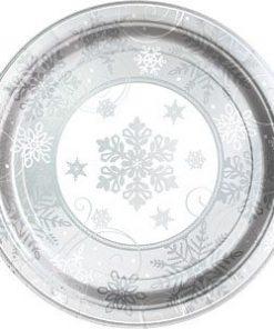Sparkling-Snowflake-Metallic-Large-Plate