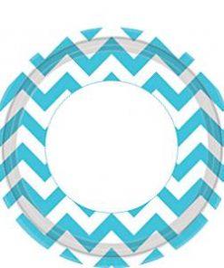 Turquoise Chevron Paper Plates