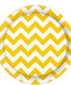 Yellow Chevron Paper Plates