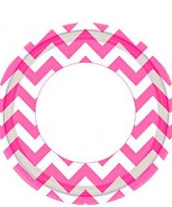 hot-pink-chevron-plates