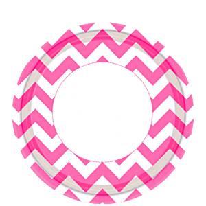 hot-pink-chevron-plates