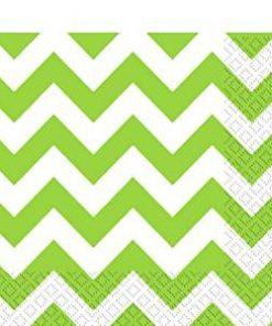Lime Green Chevron Party Napkins
