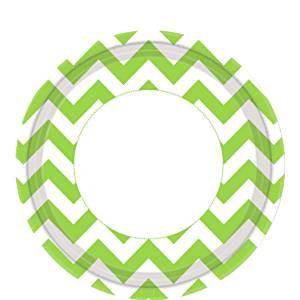 Lime Green Chevron Paper Plates