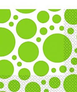 Lime Green Dot Party Napkins