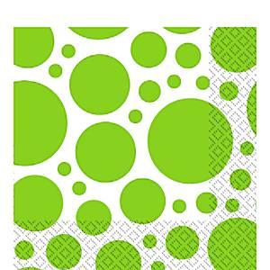 Lime Green Dot Party Napkins