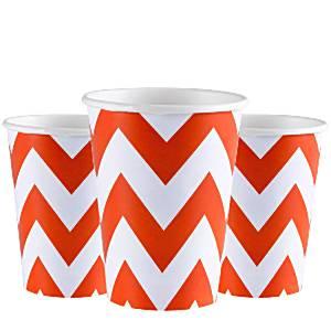 Orange Chevron Party Cups