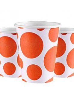 Orange Dot Party Paper Cups