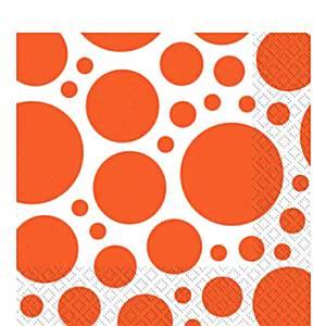 Orange Dot Party Napkins