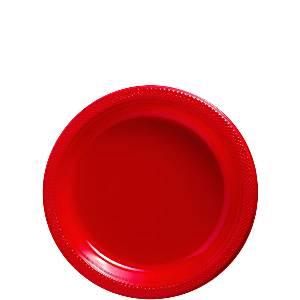 Red Plastic Dessert Plates