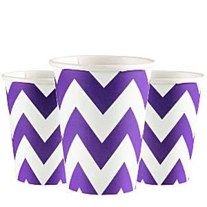 Purple Chevron Party Cups